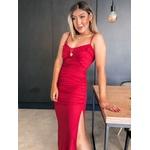 Vestido Franzido CF Vermelho