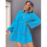 Camisa Bata Rhayssa Azul