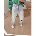Calça Wide Leg Listra Verde