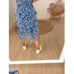 Saia Midi Floral Maria Azul