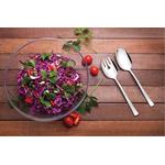 Jogo Para Salada Em Cristal Com Talheres Em Aço Inox 3 Peças - Tramontina