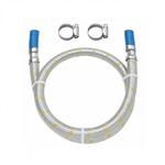 Engate Flexível Inox Para Gás Com Espigão E Abraçadeira 1,50m 182504 41 - Blukit