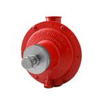 Regulador De Gás Industrial Vermelho Com Manômetro 0812 76511/02 - Aliança