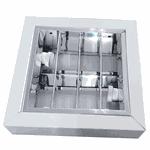 Luminária de Sobrepor C/ Aleta P/ 2 Lâmpadas E27 - (28x28cm)