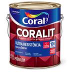 Esmalte Sintético Coralit Ultra Resistência Brilho Preto 3,6 Litros