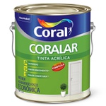 Tinta Acrílica Fosco Coralar Econômica Vanilla 3,6L