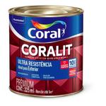 Esmalte Sintético Coralit Ultra Resistência Fosco Preto 225ML