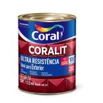 ESMALTE SINTÉTICO BRILHO ULTRA RESIST CORALIT COR CINZA ESCURO 900ML