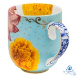 Caneca Grande Flowers - Royal