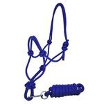 Cabresto para Cavalo Nylon Azul 7 nós c/ Cabo Boots Horse