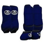 Kit Proteção Azul Marinho Completo - Boots Horse