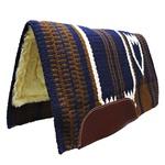 Manta importada Azul 100% Lã c/ Pelúcia na Parte Interna - Mustang