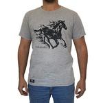 Camiseta CAVALARIA Cinza com Detalhes em Preto