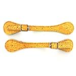 Correia de espora em couro estampado Amarelo - Cavalaria