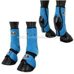 Kit Proteção Azul Turquesa Completo Skid Boots - Boots Horse