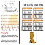 Bota Montaria Feminina Couro Legítimo Preta - Cavalaria® 5109