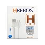 CABO DE DADOS USB MARCA HREBOS B005 V8 MICRO USB 2M BRANCO