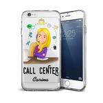 CAPA FLEXIVEL PERSONALIZADA COM NOME CALL CENTER LOIRA CABELO LISO