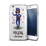 CAPA FLEXIVEL PERSONALIZADA COM NOME POLICIAL NEGRA CABELO CACHEADO