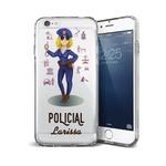 CAPA FLEXIVEL PERSONALIZADA COM NOME POLICIAL LOIRA CABELO CACHEADO