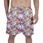 Short Praia - Figurinhas Rosas