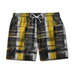Short Praia - Black and yellow