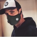 Máscara C/ Respirador Célula Cinza