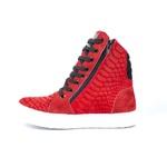 Tênis Sneaker Fitness Feminino Vermelho Cobra