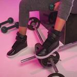 Bota De Treino Feminina Fitness Preto Com Losango