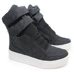 Tênis Sneaker Jeans Destroyed Preto