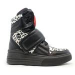 Sneaker Para Academia Preto com Onça Branca