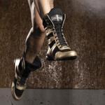 Bota Para Muay Tay e Dança Dourado Com Preto