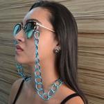 Cordinha de Óculos Corrente Bolis Azul Claro *