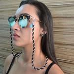 Cordinha Tecido de Óculos Corrente Azul Claro *