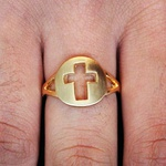 Anel Cruz Dourado