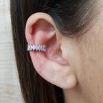 Piercing Fake Zircônia Navete Prata