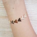 Pulseira Folheada Dourada Triângulo