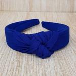Tiara Thassia Tecido Azul Escuro