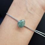 Pulseira Gota Prata Verde