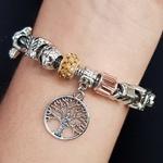 Pulseira Pandora Árvore Da Vida Prata Champanhe