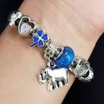 Pulseira Pandora Pingentes Prata Azul