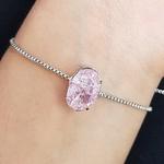 Pulseira Gravatinha Pedra Fusion Prata Rosa