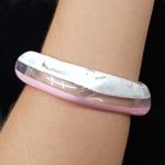 Bracelete Acrílico Mesclado Rosa