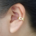 Piercing Fake Folheado Dourado Vazado