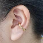 Piercing Fake Folheado Dourado Liso