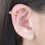 Piercing Fake Folheado Dourado Texturizado
