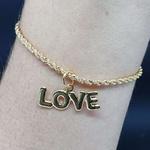 Pulseira Folheada Dourada Love