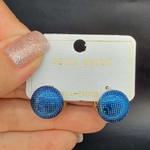 Mini Argola Dourada Azul