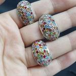 Kit Com 3 Anéis Prata Colorido
