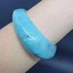 Bracelete Acrílico Mesclado Azul